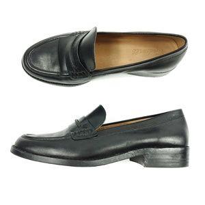 Madewell Black Leather Slip On Penny Elinor Loafer